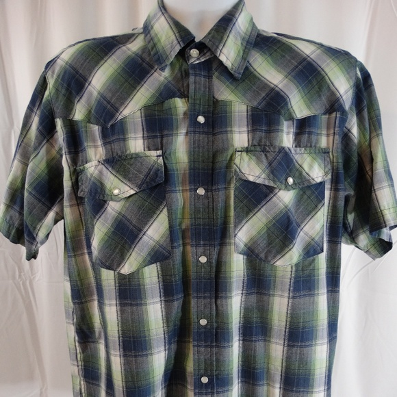 6fb6337e Bit and Bridle Shirts   Bit Bridle Western Style Plaid Pearl Snap ...